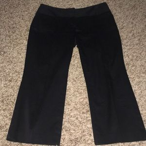 Express Editor Capri black dress pants 2